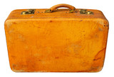 Old suitcase. Clipping path included.