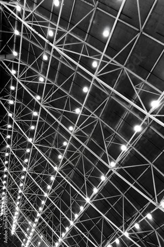 Foto op Aluminium Toronto The ceiling steel beams with pendant lamps