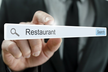 Word Restaurant written in search bar