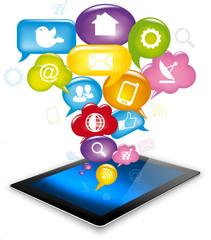 Tablet social media, App