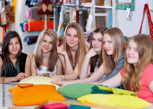 Patchwork course with teenager