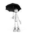 the little man with an umbrella