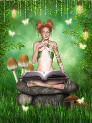 While reading a magic book