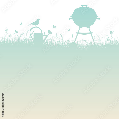 Summer Meadow Barbecue Turquoise/Beige