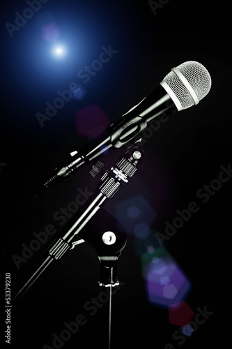 spotlight and microphone