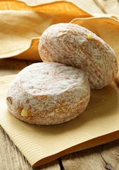 sweet dessert donuts sprinkled with powdered sugar
