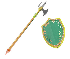 A pike and shield