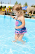 fashion toddler in the pool