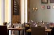 Leinwanddruck Bild - Cafe Interior