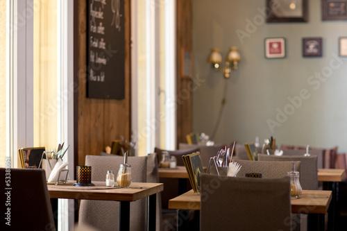 Leinwanddruck Bild Cafe Interior