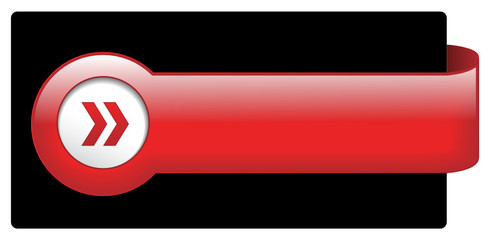 Red Web Button (sign badge icon symbol blank template vector)