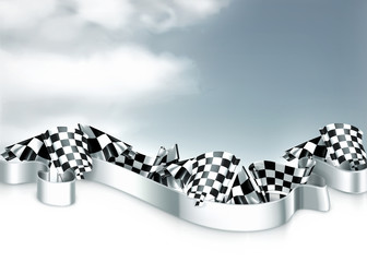 Checkered flags background