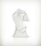 Paper horse, origami