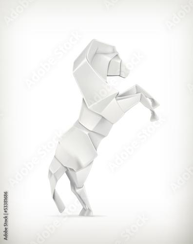 White paper horse, origami