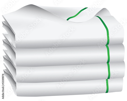 Set of white towel