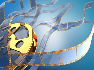golden filmstrips background