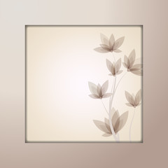 "vector template ""framed flowers"""
