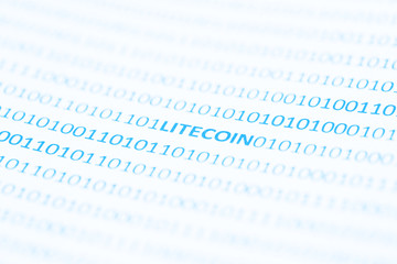 Litecoin Text In Binary Code