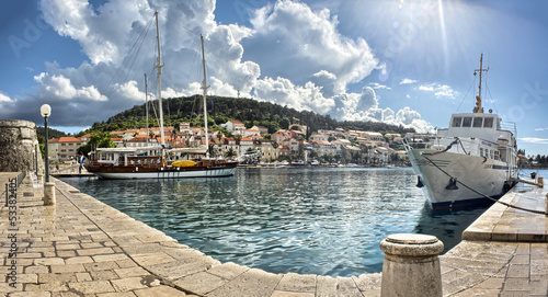 Town Korcula at Croatia - harbor