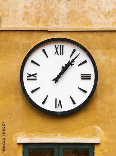 Vintage clock on wall
