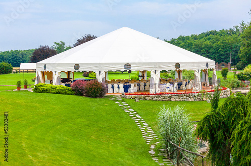 Fotobehang Buffet, Bar Outdoor wedding reception
