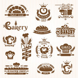 Set of bakery design elements (monochrome variant)