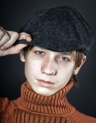 Teenage boy portrait