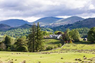 landscape of Lake District, Cumbria, England