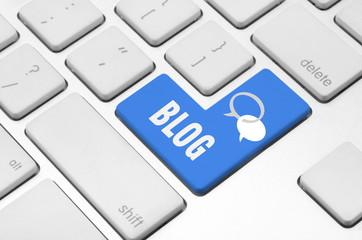 Blog key on the computer keyboard