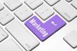 Marketing key on the computer keyboard