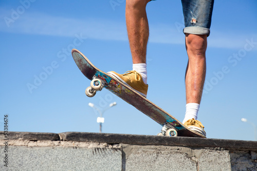Skateboarders Feet Close Up