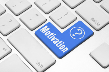Motivation key on the computer keyboard