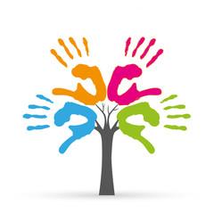 Baum bestehend aus Händen