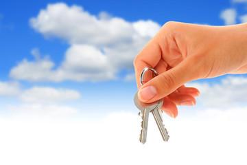Keys in hand.