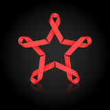 Red ribbon star
