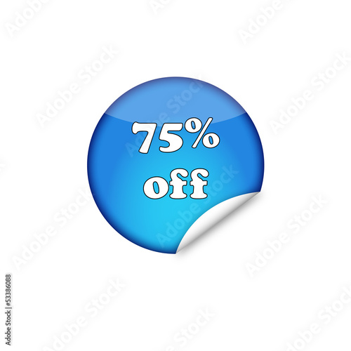 75% off sticker