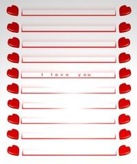 biglietto d'amore