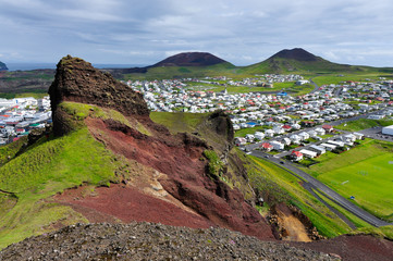 Westman Island at the south of Iceland