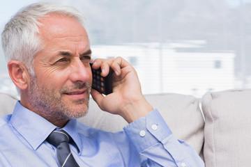 Businessman making a call