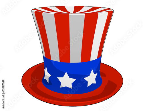 Cartoon American Independence Day Hat