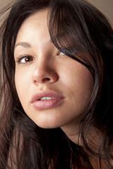 closeup of beautiful face w