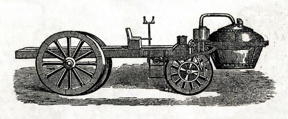 First automobile - Cugnot's 1771 fardier à vapeur