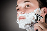 portrait of handsome men for shaving