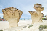 Rocks Sculpted by Wind near Mazarron, Spain