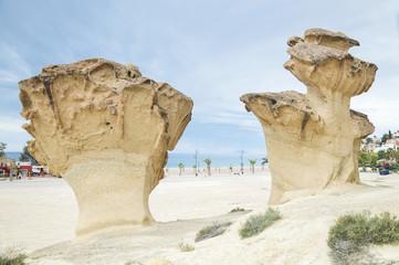 Rocks Sculpted by Wind near Mazarron, Spain