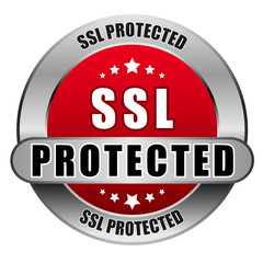 5 Star Button rot SSL PROTECTED DTO DTO