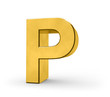 Letter in gold - P