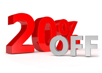 20 percent off