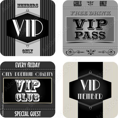 VIP vintage cards