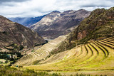 Peru, Pisac-Inca ruins in the sacred valley,Peruvian Andes